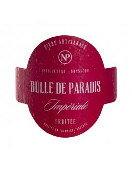 étiquette bière artisanale rouge