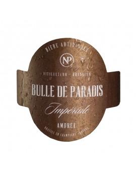 étiquette bière artisanale ambrée