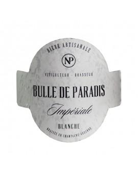 étiquette bière artisanale blanche