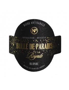 étiquette bière royale artisanale