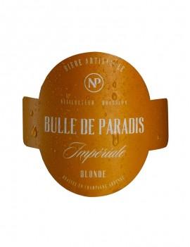 étiquette bière artisanale blonde